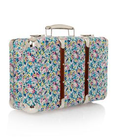 liberty print suitcase