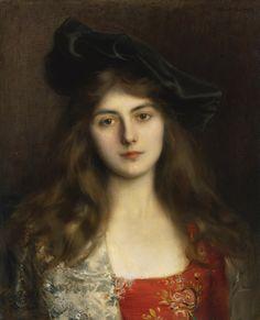 Albert Lynch (Peruvian artist, 1851-1912) A Young Woman