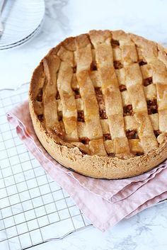 Stroopwafel-appeltaart