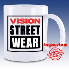 New Vision Street Wear Design High Quality White Mug Ceramic Coffee Tea Cup #Unbranded #New #Hot #Milk #Rare #Best #Design #Luxury #Elegant #Awesome #Bath #New #2017 #Kid #Girl #Birth #Gift #Custom #Love #Amazing #Boy #Beautiful #Gallery #Couple #Best #Quality #Coffee #Tea #Break #Fast #Wedding #Anniversary #Trending #2017 #Movie #Sport #Music #Band #Disney #Coach #Beauty #And #The #Beast #Style #Women #Men #Cheap