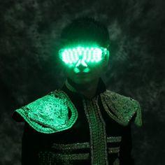 Spectacle de Danse LED Lunettes Luminescents Lumière Blanche/Rouge/Vert/Bleu