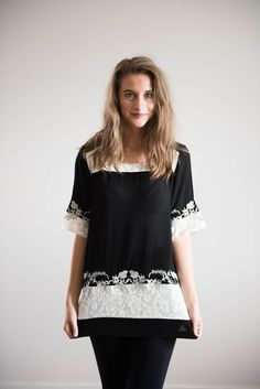 Free to the People Blouse in Black