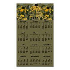 Black-Eyed Susans (Rudbeckias) 2015 Wall Calendar Posters