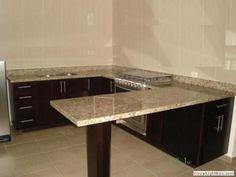 imagenes de cocinas integrales - Buscar con Google Kitchen Shelves, Kitchen Layout, Kitchen Design, Kitchen Countertops, Kitchen Island, Sweet Home, New Homes, Interior Design, House