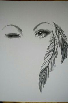 ~Beautiful artwork of the feathered Eye~