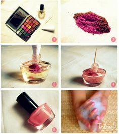 home made nail polish...