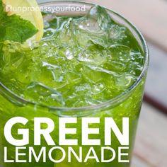 Green Lemonade - Unprocess Your Food