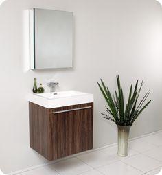 Fresca Alto Walnut Modern Bathroom Vanity