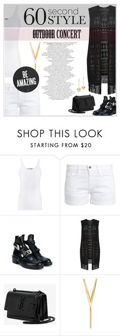 """""""Outdoor concert ✨"""" by ghada-a ❤ liked on Polyvore featuring Vince, Frame, Balenciaga, Dorothy Perkins, Yves Saint Laurent, BERRICLE, 60secondstyle and outdoorconcerts"""