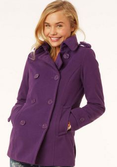 An #orchid coat is a great transition piece into spring!