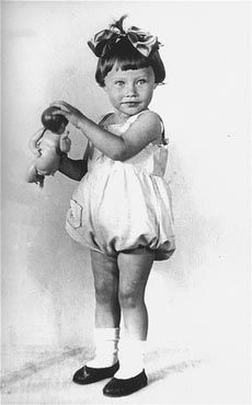 1936 portrait of two-year-old Mania Halef, a Jewish child, who was later killed during the mass execution at Babi Yar.