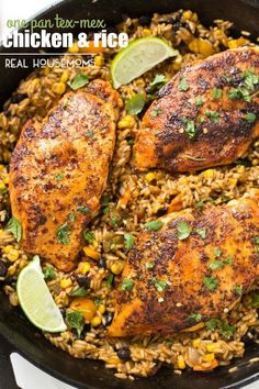 One Pan Tex-Mex Chicken and Rice