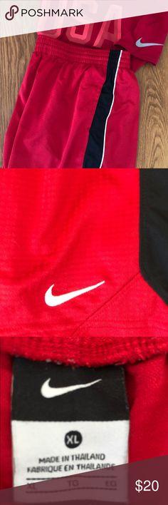 Nike Men's Dri Fit Basketball Shorts Nike Men's Dri Fit Shorts Red With black Stripes XL Nike Shorts Athletic