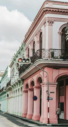 Cuba pastel buildings