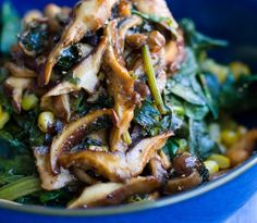 Wilted Spinach Salad with Balsamic Mushrooms. Paris.
