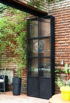Steel Doors And Windows, Metal Windows, Door Design, Exterior Design, House Design, Patio Enclosures, House Extension Design, French Doors Patio, House Extensions