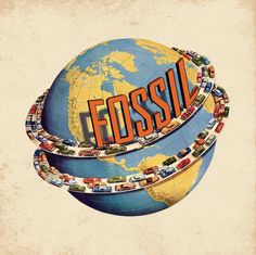 Vintage #Fossil Globe