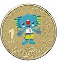 2018 $1 XXI Commonwealth Games - Borobi Frosted Unc Coin