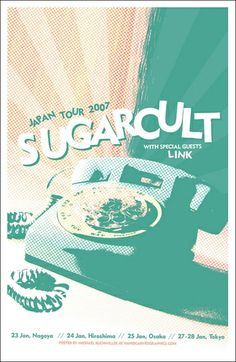 Sugarcult Gig Poster. rotary telephone