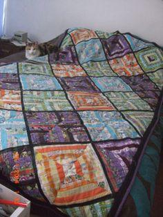 cubre cama en patchwork