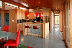 Cuisine rustique contemporaine – 45 idées sur les meubles en bois