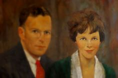 Painting of George and Amelia