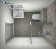 Inloopdouche in complete badkamer mix match baden bathroom pinterest tile design mix - Kleine badkamer zen ...