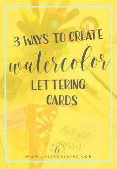 Need a background for your lettering? Here are 3 easy methods you can use to create one! You just need some paints, or Tombows, and brushes. Click through to read the full tutorial for all 3 methods on creating a gorgeous watercolour wash!