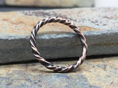 Twisted Copper Midi Ring by NurturedWorks on Etsy