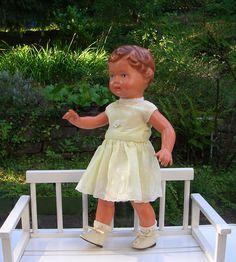 Schildkröt Puppe URSEL 36 cm Kleidung alt+neu | eBay