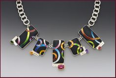 Anna Tai cloisonné jewelry in sterling