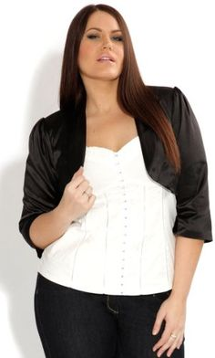 Fashion Bug #Curvy #Chic Womens Plus Size Satin #Bolero #Jacket