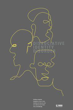PSA: Mental Disorders by Jennifer Lau, via Behance