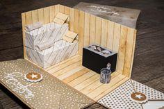 Explosionsbox zu Weihnachten zum verschenken eines Sauna Gutscheins