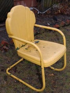 vintage metal lawn chair 1950s retro patio summer chairs