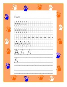 Collection of 52 printable handwriting worksheets for students in grade pre-k to 3rd. Students will practice writing in the lines. With templates from A to Z, and using award winning software Fonts 4 Teachers, students will learn to form letters correctly and will practice tracing letters within a grid.
