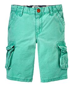 Look at this RUUM Mint Leaf Cargo Shorts - Boys on #zulily today!