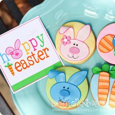 these fantastic cookies from Dream Day Cakes coordinate perfectly with the easter and spring collection from Lauren McKinsey!