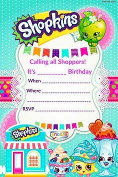 Updated – FREE Printable Shopkins Birthday Invitation Template | Drevio Invitations Design