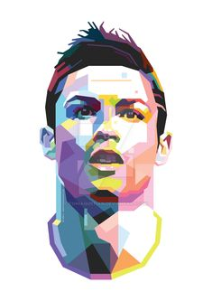 Cristiano Ronaldo the great soccer player in form of colorful WPAP. By Toni Agustian Cristiano Ronaldo WPAP Cristiano Ronaldo 7, Cristiano Ronaldo Manchester, Cr7 Messi, Cristiano Ronaldo Wallpapers, Ronaldo Football, Messi And Ronaldo, Football Art, Lionel Messi, Neymar Psg