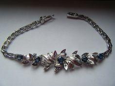 3 TCW Vintage 925 Sterling Sapphire Floral by BejeweledEmporium, $200.00