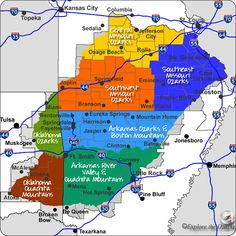 Map Of The 52 Arkansas State Parks This Interactive Map