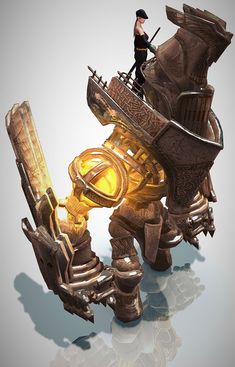 Warrior & Golem - Characters & Art - Mabinogi II: Arena