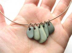 DIY rock necklace
