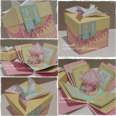 Gallery. Includes pricing details. - Ericraft - handmade, cards, for, sale, purchase, custom, fancy,Greeting, 3D, explosion, explosion card, explosive, box, card, boyfriend, anniversary, wedding, birthday, Irymple, Victoria, Australia