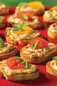 Goat Cheese and Sun-Dried Tomato Crostini