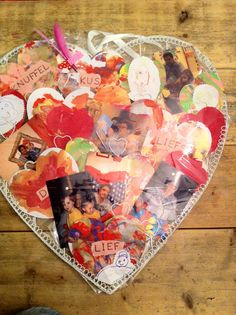 heart ornament full of pictures and keepsakes...awww. for any special occasion