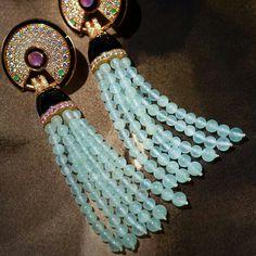 Fabulous #cartier #earrings #diamonds #emerald #amethyst #gold #beads #rings #placevendome #jewelry @mariigem