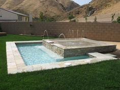 splash pad area for a small backyard.