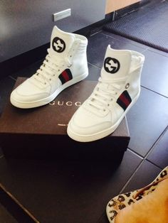 GUCCI White Coda Hi Top Sneaker Size 8